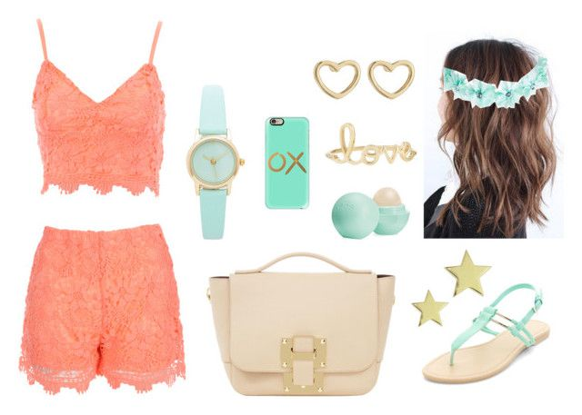 """Apricot + Mint = Bohemian Beach Vibes"" by maybe0rmaybenot ❤ liked on Polyvore featuring Jane Norman, Eos, Marc by Marc Jacobs, Sydney Evan, Wet Seal and Casetify"