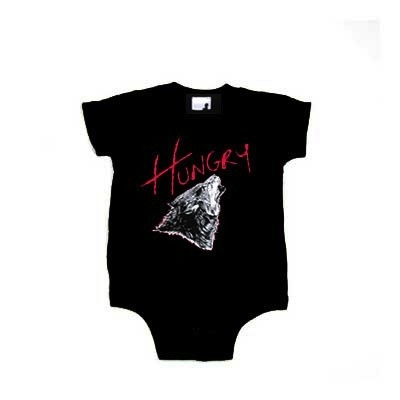 A tribute to the everlasting Duran Duran. Rock on! The perfect way for baby to show the world he/she is just Hungry like the Wolf! $24