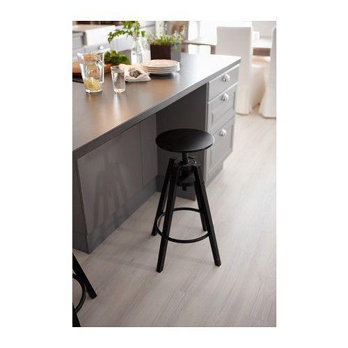 Dalfred bar stool black bar stool and stools - Kitchen bar stools ikea ...