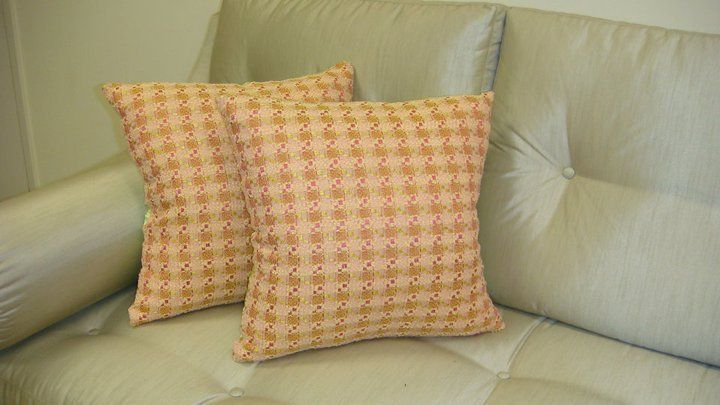 Thundersley Home Essentials - Chanel Classic Plaid Throw Pillow Cover.....Fabric Designed by Chanel, $159.99 (http://frenchcountryfurnitureusa.com/chanel-classic-plaid-throw-pillow-cover-fabric-designed-by-chanel/)