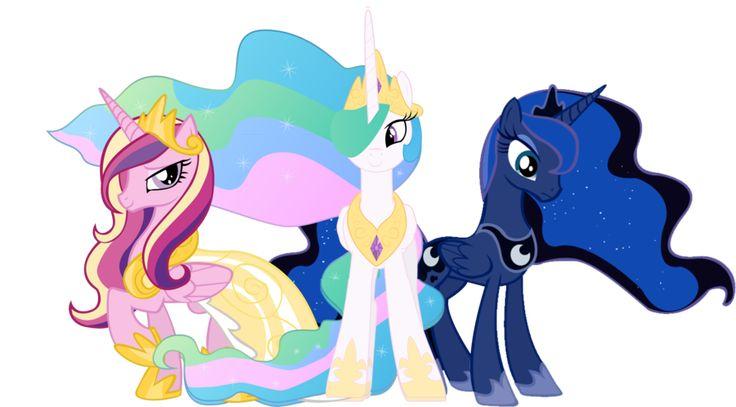 My Little Pony Princess Celestia And Princess Luna And