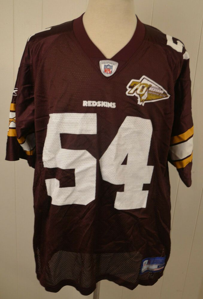 100% authentic f7bbf e02d2 Reebok Washington Redskins 70th Anniversary Jersey #54 ...