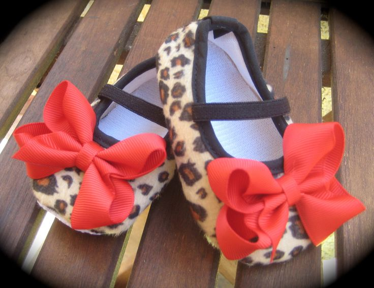 Rockabilly Baby Girl Cheetah Crib Shoe's. $11.00, via Etsy.