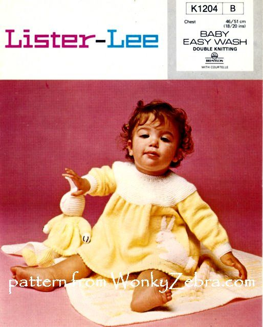 WZ136; another version of this pattern. The magazine version in othe pin was published after this pattern from Lister Lee.