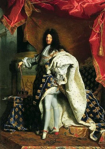 "Louis XIV, Rigaud. Le Louvre My favorite king in the French history. France was at its best under his reign, except the ""black code"" part, which used to rule slavery in French America."