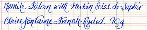 Namiki Falcon on Clairefontaine French-Ruled Paper