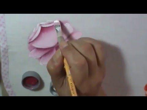Dicas de pintura grátis - Rosa virada - Pintura em tecido - Série como pintar rosas - YouTube