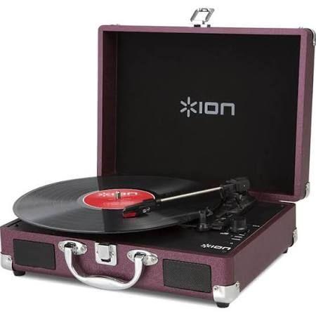 Ion Audio Vinyl Portable USB Turntable - Raspberry, Purple