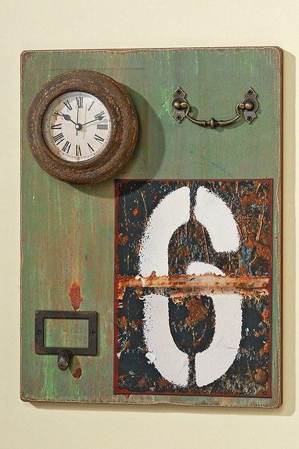 Wand object met Klok H 40 cm (7625100)