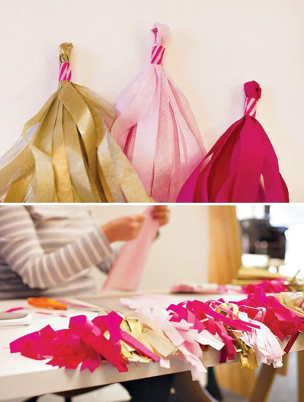 DIY Tutorial: Tissue Tassel Garland {Matte + Metallic}