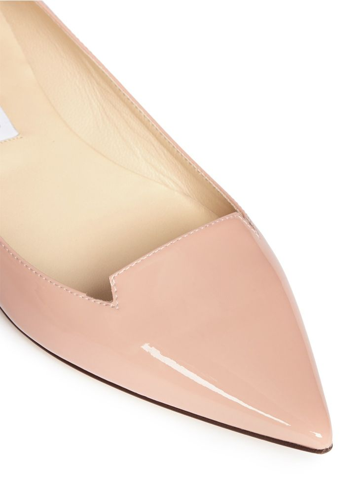 Revel in blossoming overtones with these jimmy choo patent leather