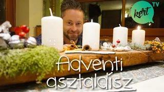 Így kell csodaszép adventi asztaldíszt készíteni - McMenemy Márk videója