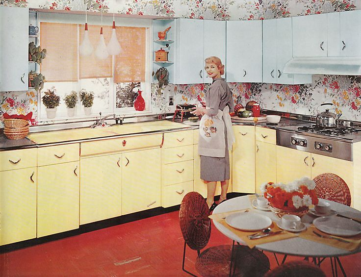 Vintage Yellow Country Kitchen 3110 best vintage kitchens images on pinterest | vintage kitchen