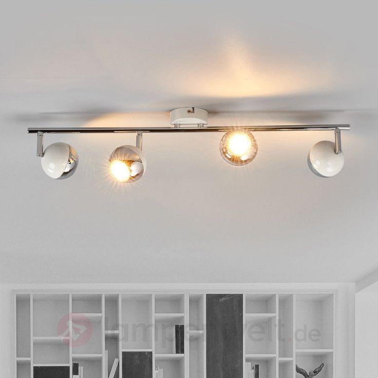 Details Zu Strahler Arvin Vierflammig LED Lampen GU10 Deckenleuchte Lampenwelt Weiss Chrom
