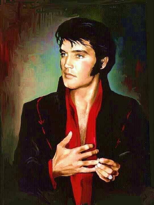 Painting of Elvis Presley in 1969  By Betty Harper