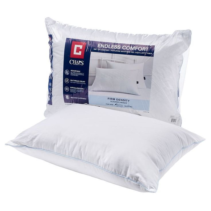 Chaps Endless Comfort Firm Pillow, White