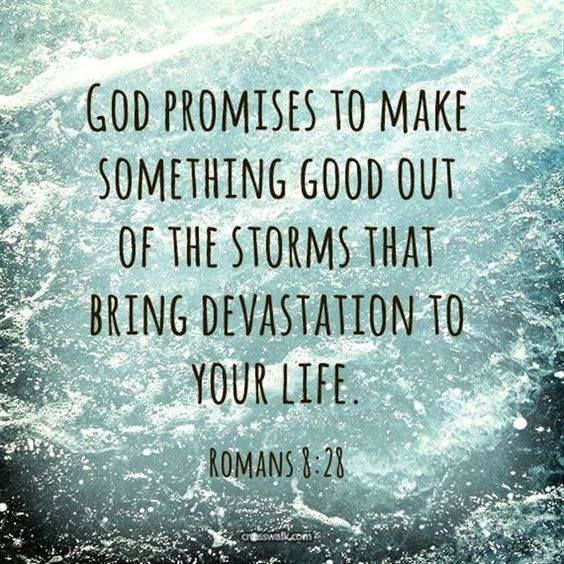 God is always in control.  No matter what the size  of the storm.  I truly believe that.