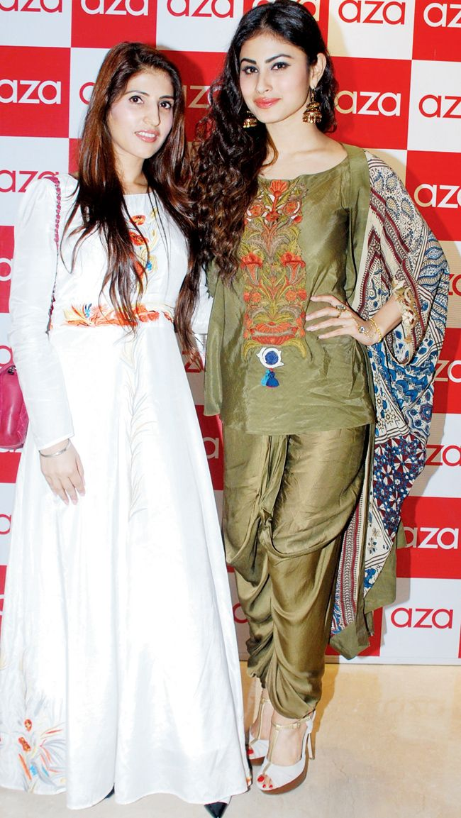 Dr. Ruby Tandon and Mouni Roy at the mens wear collection launch at Aza. #Bollywood #Fashion #Style #Beauty