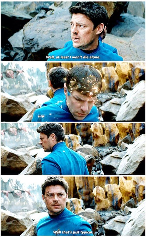 This scene had me laughing out loud in the theater Spock + bones = comedy gold