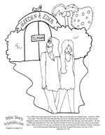 14 best images about adam and eve on pinterest crafts for Adam eve coloring pages
