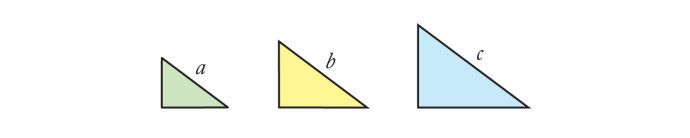 Einstein's first proof: Fig. 8, right triangles of various sizes