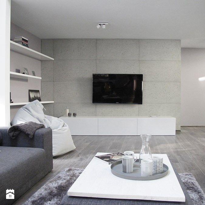 beton dekoracyjny concreAte - Salon - Styl Skandynawski - concreAte