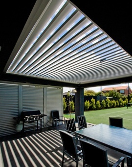 Magic opening patio roof