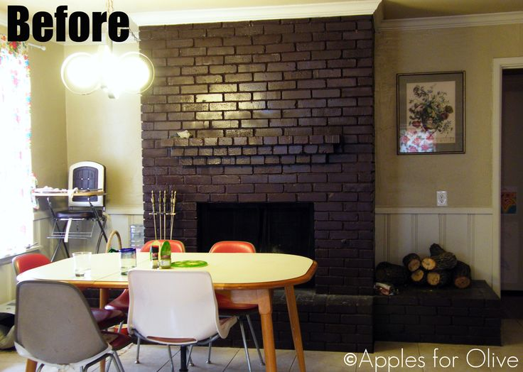 12 Best Painted Brick Fireplace Images On Pinterest Painted Brick Fireplaces Painted Bricks