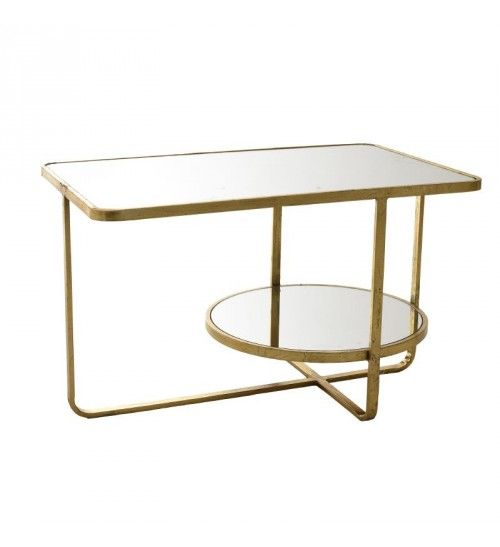 METALLIC_GLASS TABLE IN GOLDEN COLOR 76X48X45
