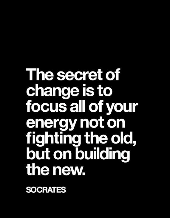 The new is the future, the old is the past, always move forward #Quotes