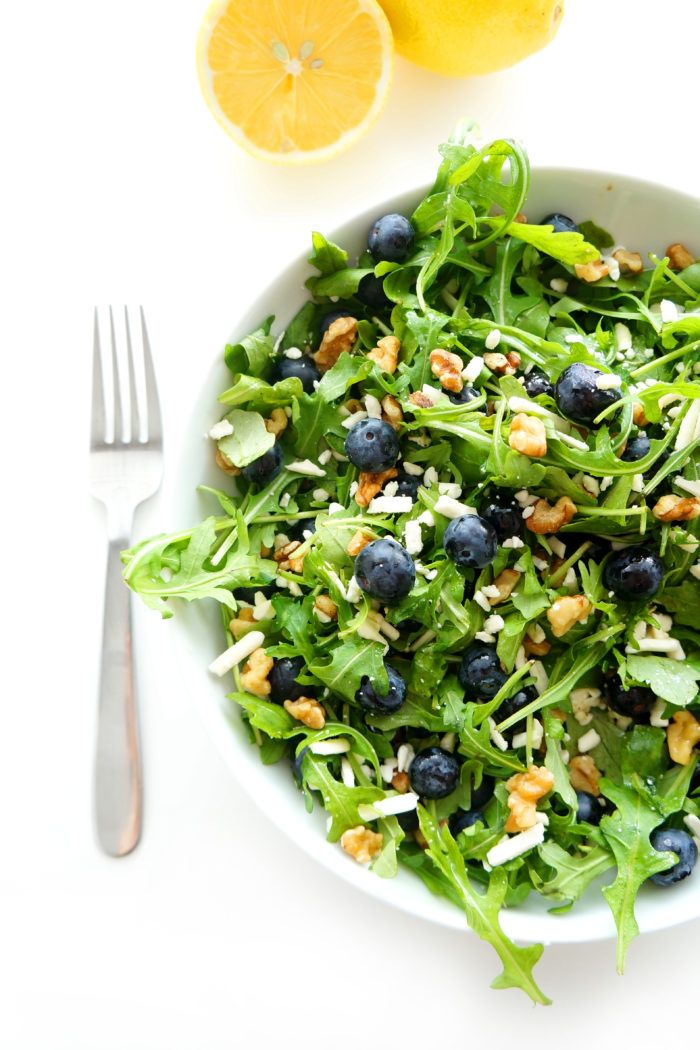 This blueberry salad is one of my ultimate favourites and a definite crowd-pleaser! So easy, refreshing and healthy! With all this warmer weather this past week, I am seriously getting in the mood for all things spring and summer….including this super refreshing blueberry salad! With less than 10 ingredients, it literally takes less than 10 …