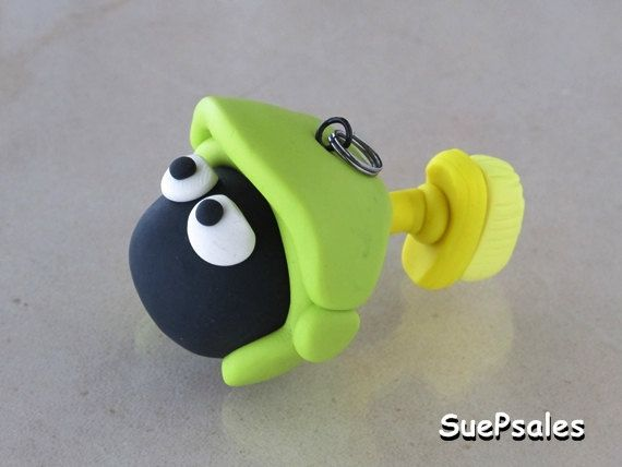 Marvin the Martian a looney tunes polymer clay by SuePsales, $18.00