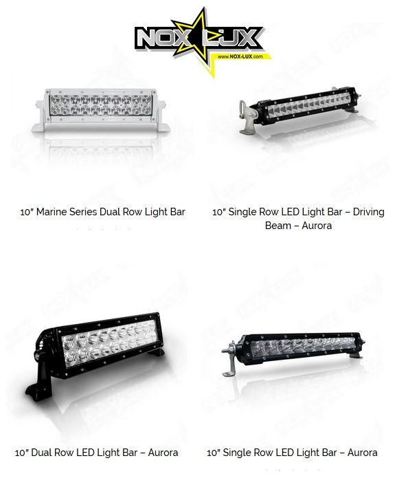 "Nox Lux 10 inch LED Light Bars- Some of the Best 10 in. Single Row Light Bars, 10 inch Dual Row LED Light Bars, 10"" single row LED Light Bar in Driving Beam for Work or Play..."