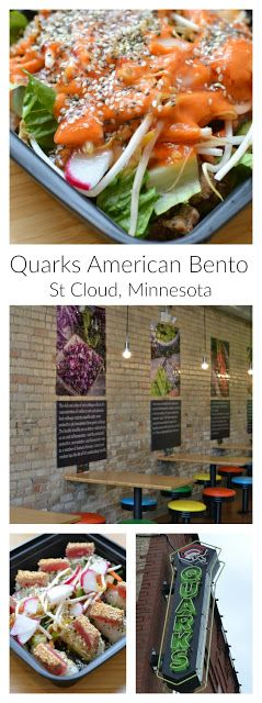 Fresh food, gluten free and delicious! Located in a gorgeous historical building in downtown St Cloud, Minnesota! Quarks American Bento featured by Hot Eats and Cool Reads