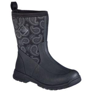 The Original Muck Boot Company Bandana Breezy Mid Waterproof Boots for Ladies - Black/Bandana - 6 M