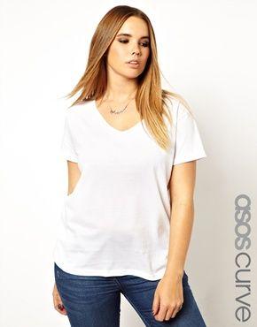 The perfect white tee. #asoscurve #plussize #fashion