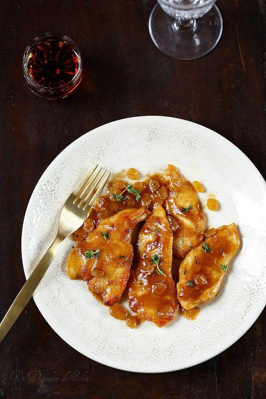 Escalopes de poulet au Marsala comme en Italie