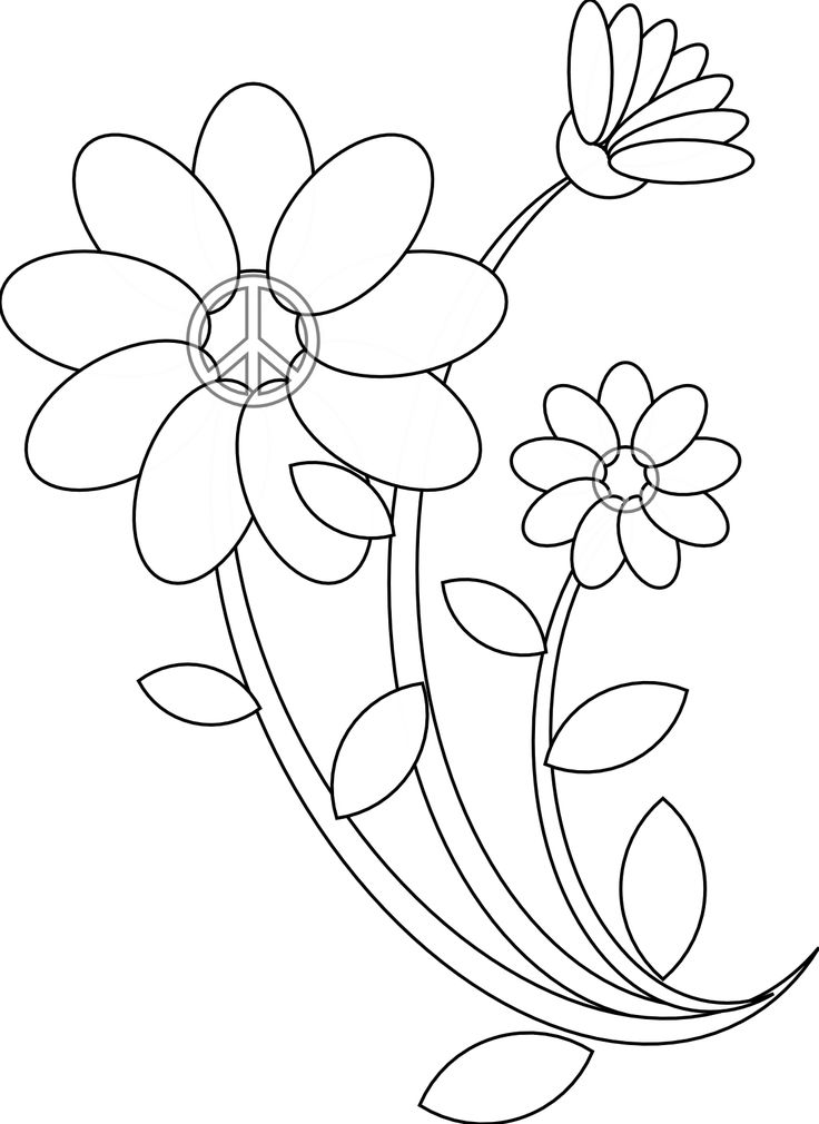 Flower Line Drawing Book : Best floral coloring pages for adults images on