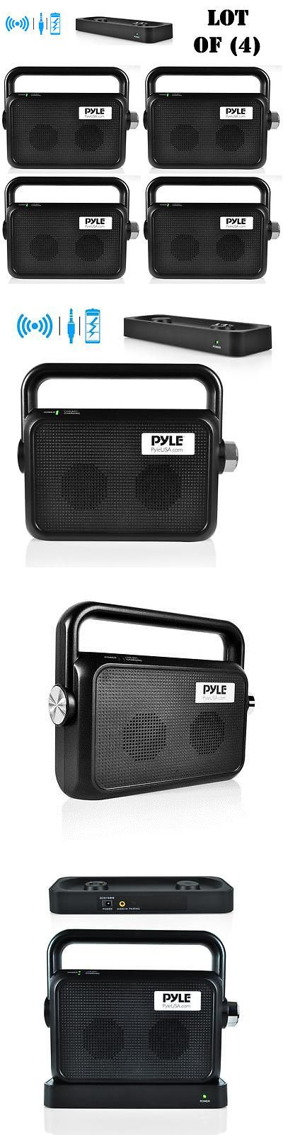Ham Radio Receivers: Lot Of (4) New Pyle Ptvsp18bk Wireless Tv Speaker Transmitter And Receiver -> BUY IT NOW ONLY: $338.09 on eBay!