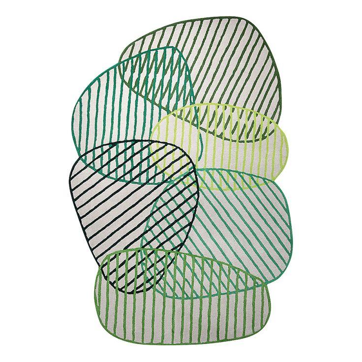 Tapis Graphic Jungle - Fibres synthétiques - Vert - 120 x 180 cm