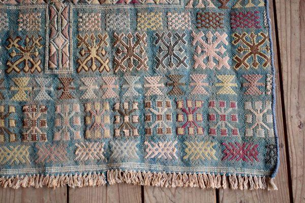 Vintage Retro Geometric Moroccan Berber Kilim Tribal Rug | vinterior.co