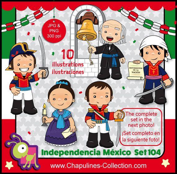 60% desc. Clipart Independencia de México, héroes de la Independencia, clipart escuela, 16 de Septiembre 1810, fiesta mexicana Set 104