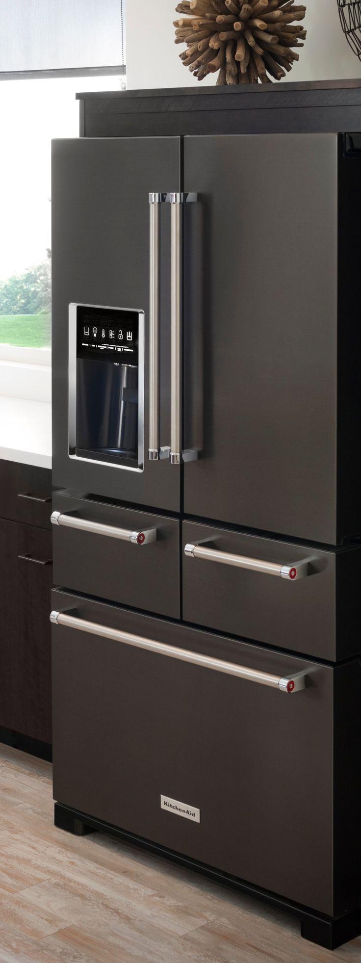 Black Stainless Steel Appliances Give Your Kitchen A Bold, Sleek Look.  KitchenAidu0027s 5