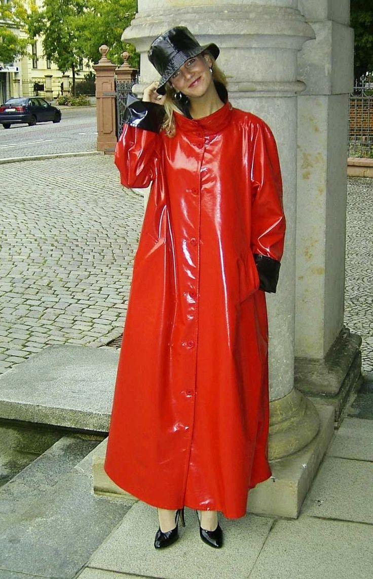 shiny raincoat really great