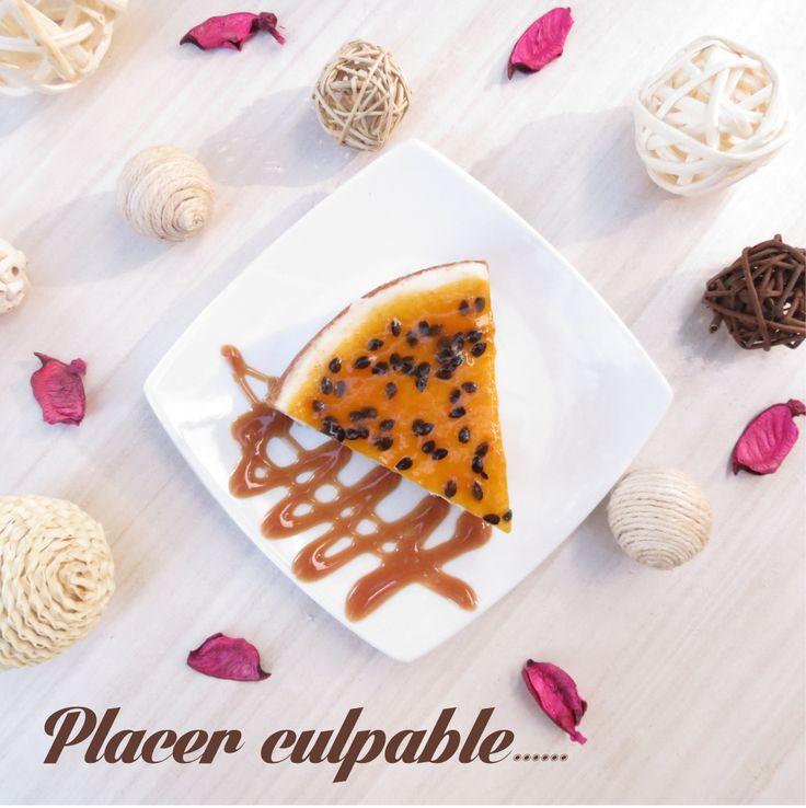 cheesecake de maracuyá para endulzar tu día.