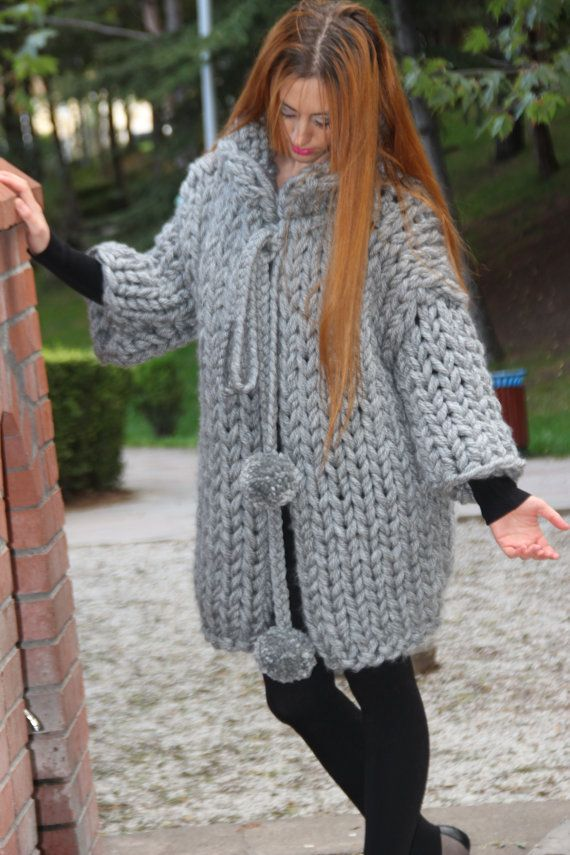 Christmas SALE Chunky Knit Cardigan / Chunky by TheKnitBeyond