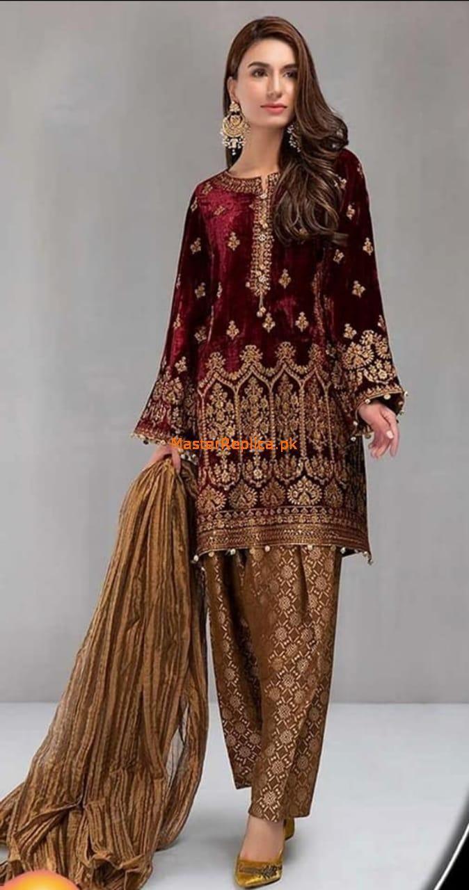 Teena Durrani Maria B Collection 2018 Embroidery Pakistani Shalwar Kameez B
