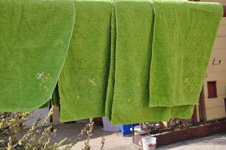 Mein Tragling und ich: Handtücher besticken