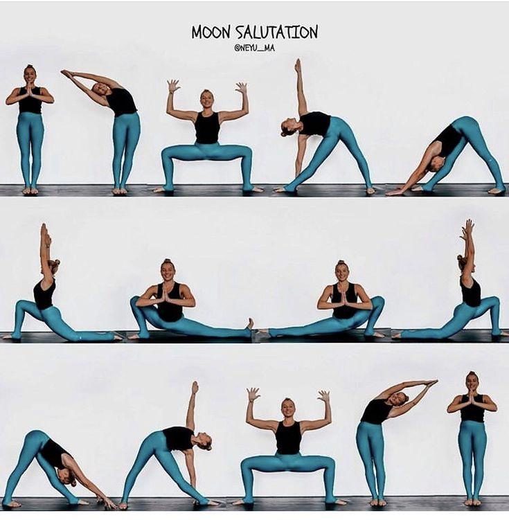 Chandra Namaskar (Moon Salutation) | Entrenamiento de yoga ...