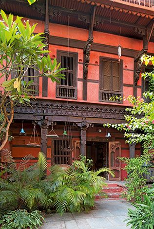 India - beautiful! I'd love to live in a haveli (Indian mansion with outside courtyard in the middle)!